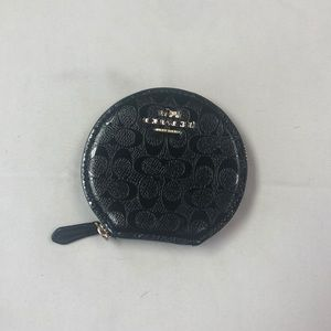 Never Used Black Coach Coin Purse